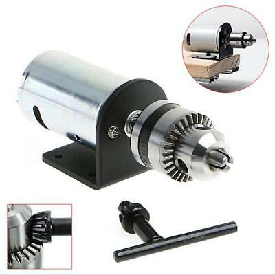 DC 12-36V Lathe Press 555 Motor With Miniature Hand Drill Chuck and Mounting Bra