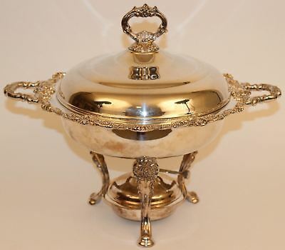 Wallace Baroque Silverplate Chafing Dish