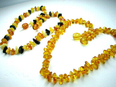 Lot - 2 Baltic Amber Children's Necklaces