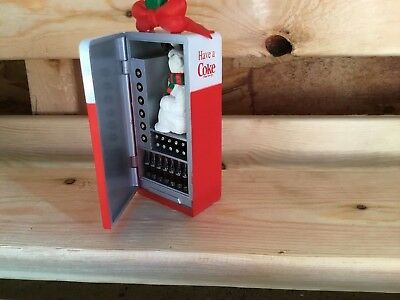 "Coca Cola  Christmas Ornament "" Machine With Polar Bear:""  1995"