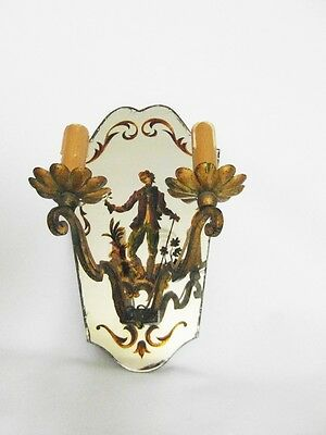 Antique french wall light  sconce year40 glass style robert Pansart