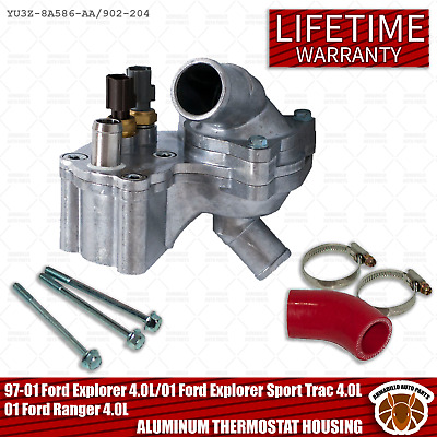 NEW THERMOSTAT HOUSING W// SENSORS FOR 97-01 FORD EXPLORER MOUNTAINEER 4.0L V6