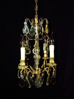 Superb French Crystal Chandelier Louis XV Style. 19Th. C.
