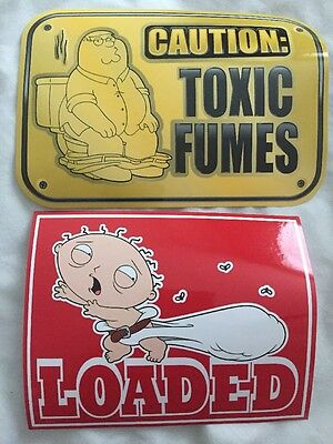 Family Guy Stickers Toxic Fumes And Loaded