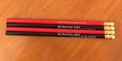 Indianapolis Museum Of Art Pencils Lot Of 4 Roman Art From The Louvre Red Black