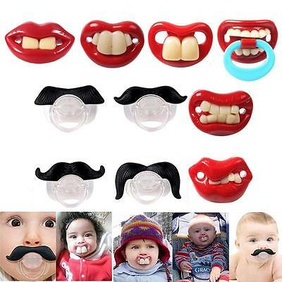 Useful Funny Teeth Mustache Baby Infant Pacifier Orthodontic Dummy Nipples HH