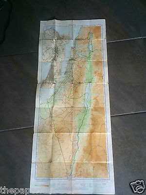 Rare Vintage 1959 large map of Israel