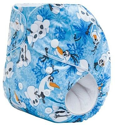New Olaf Frozen Pocket Cloth Diaper Nappy Washable Adjustable EcoFriendly Disney
