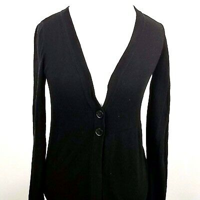 GAP Maternity Cardigan Black Sweater Long Sleeve Top WOMENS SIZE SMALL