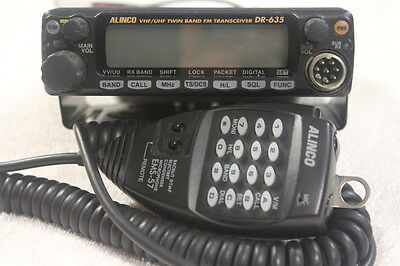 Alinco DR-635T/E Mobile/Base VHF+UHF Transceiver and Expanded Range Receiver