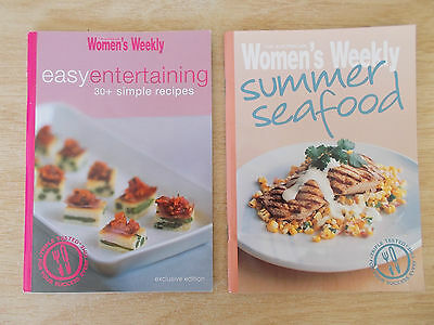 2 x Australian Women's Weekly S/F Cookbooks~Easy Entertaining~Summer Seafood