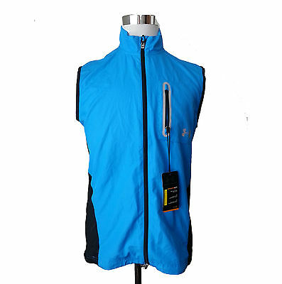 Under Armour men size M windbreaker vest front zip vent back Running Fitted