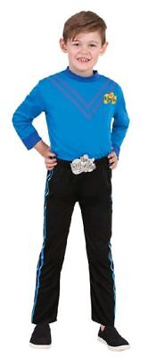 THE WIGGLES - Deluxe Costume Anthony Blue Wiggle Dress Up size 3-5 or 1-3yr NEW