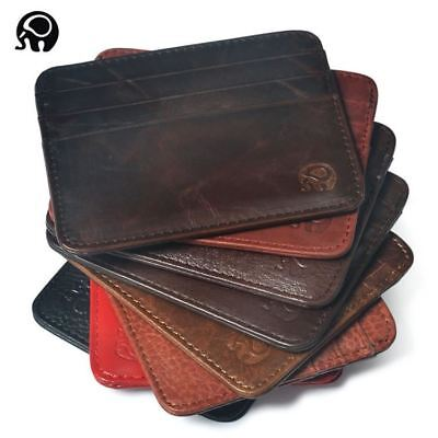 Wallet Business Card Holder bank cardholder leather cow pickup package bus card