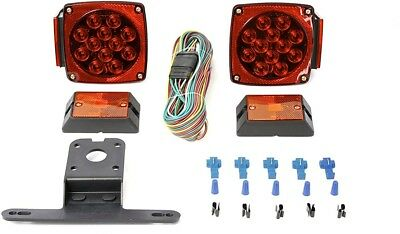LED Trailer Light Kit LED Red Light Truck Towing Hauling Exterior Signal Lamps
