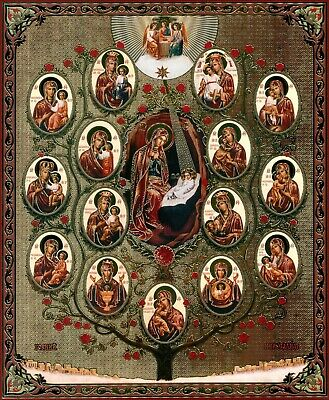 Tree Of The Mother Of God Icon  Икона Божией Матери Древо Пресвятой Богородицы