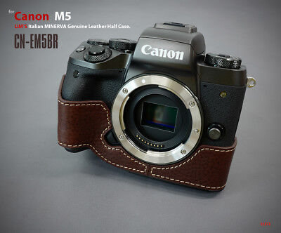 Lim's Design Lims Genuine Italy Leather Case for Canon M5 Brown