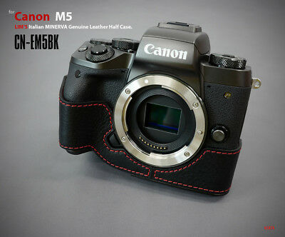 Lim's Design Lims Genuine Italy Leather Case for Canon M5 Black