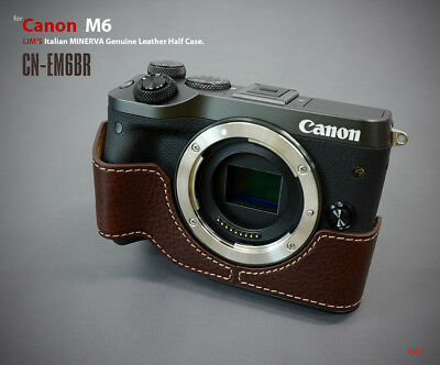 Lim's Design Lims Genuine Italy Leather Case for Canon M6 Brown