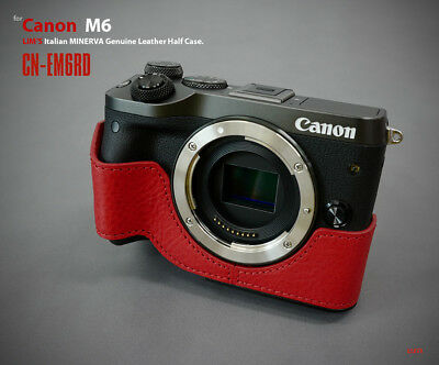 Lim's Design Lims Genuine Italy Leather Case for Canon M6 Red