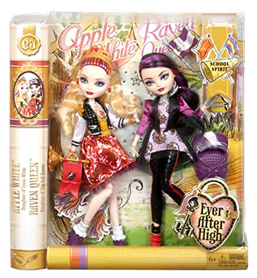 Play Dolls Ever After High School Spirit Apple White and Raven Queen Deluxe Set