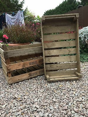Vintage Wooden Potato Chitting Trays Crates Apple Boxes Trays Storage Rustic