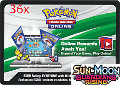 36x Pokemon Guardians Rising TCGO Online Digital Booster Code (Within 24 Hours)