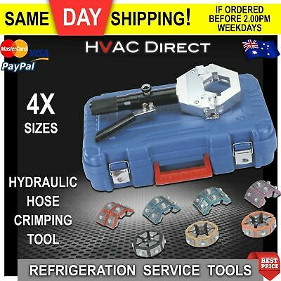 Hydraulic Hose Crimping Tool Kit - for crimping Refrigeration hose fittings