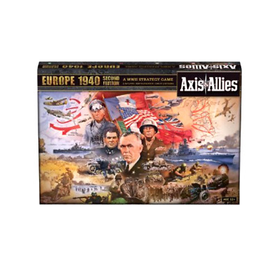 Board Games Axis and Allies Europe 1940 Second Edition with Italian Miniatures