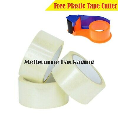 Clear Adhesive Packaging Sticky Tape 75M x 48mm packing tape  DISPENSER GUNS