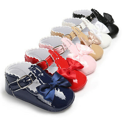 UK Kids Baby Girl Shoes Bow Sandals Toddler Infant Child Sandle Soft Crib Boots