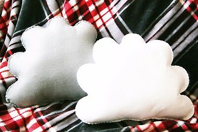 White And Grey Cloud Shaped Cushions Plush Pillows Kids Room Decor Baby Nursery