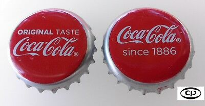 2x Belgium/Netherlands Used Bottle Cap Coca-Cola Original Kronkorken Chapa Set