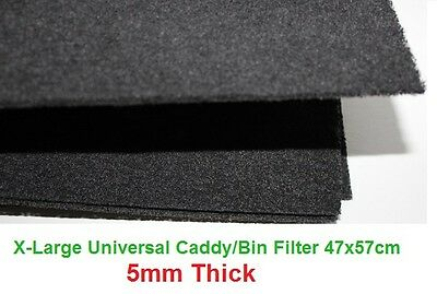 Compost Caddy Filter Cut to Fit Bins 470x570mm Charcoal Sheet- 5mm or 10mm thick