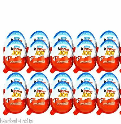 6 X Kinder JOY Surprise Eggs, Ferrero Kinder Choclate Best Gift Toys, for BOY