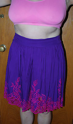 "Ladies Purple Skirt with Edging from ""Sugarhill X"" Size L"