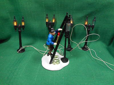 Dept 56 Lamplighter Accessory Set and Lamp Post Set