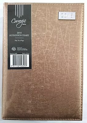 New 2018 Diary A5 Day To Page Fancy Cover Day To An Opening A5 DTP-Copper