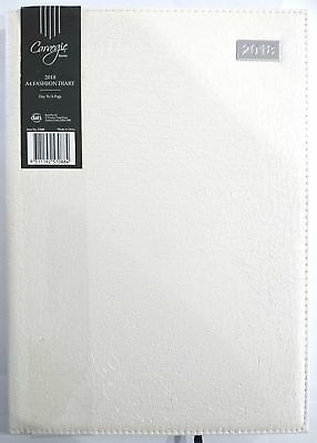 New 2018 Diary A4 Day To Page Fancy Cover Women's Diary Day To An Opening-White
