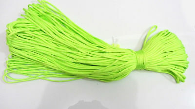 100FT Fluorescent green Paracord Rope 7 strand Parachute Cord CAMPING HiKING