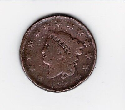 1832 Large Usa Penny--    Free Shipping