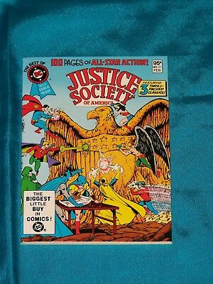 Best of DC Blue Ribbon Digest # 21, Feb. 1982, JUSTICE SOCIETY, VERY FINE MINUS