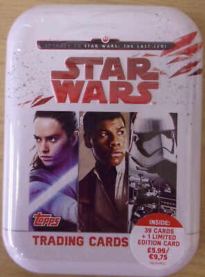 Star Wars ~ Journey To The Last Jedi ~ Topps Trading Card Collectors Mini Tin