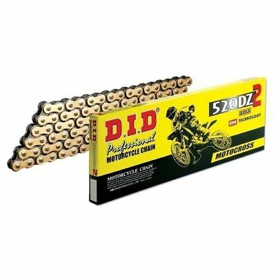 DID 520 DZ2 Professional Motocross Chain Gold 118 Links Enduro / Off-road / MX