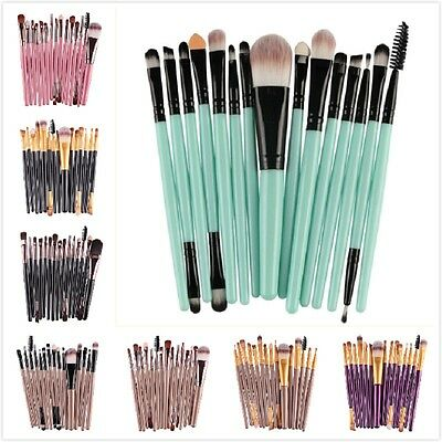 15pcs Eye Shadow Powder Cosmetic Makeup Brushes Set Lip Eyebrow Brush Kits NEW
