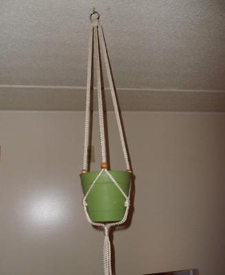 Macrame Plant Hangers - Holds A 4 To 12 In Pot - 42 In.  Use Inside Or Outside