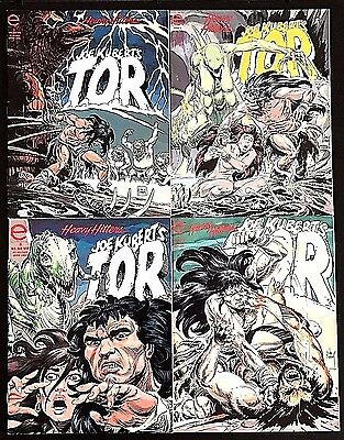Tor#1-4 Fn/vf Lot 1993 Joe Kubert Marvel/epic Comics Magazine