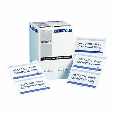 Alcohol Free   Cleansing Wipes individual pack, antiseptic, wound, Graze, Cut
