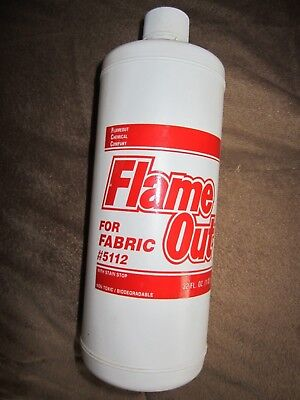 Flame OUT- Fire Retardant - Spray on Application for Fabric w/ Stain Stop  32oz