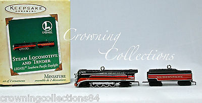 2004 Hallmark Lionel Steam Locomotive Tender Southern Pacific Daylight Ornaments